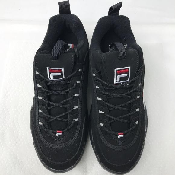 Fila Disruptor II Mens Black Suede Sneakers